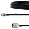 Slide-On BMA Plug Bulkhead to TNC Male Cable FM-SR141TBJ Coax in 60 Inch -- FMCA1628-60 -Image