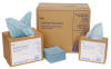 Dupont Sontara MP121 Blue Cellulose / Polyester 250 Wipe - Pop-up Dispenser - 250 wipes per box - 16.5 in Overall Length - MP12165BG -- MP12165BG - Image