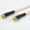 RA MMCX Plug to RA MMCX Plug Cable RG-316 Coax in 48 Inch and RoHS with LF Solder -- FMC1919316LF-48 -Image