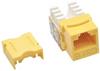 Cat6/Cat5e 110 Style Punch Down Keystone Jack - Yellow, TAA -- N238-001-YW
