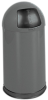 Roundtop Metal Trash Can with Plastic Liner -- GPR420-BLACK