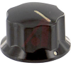 Knob; Finger-grip Rheostat; 3/4 In. dia.; 7/16 In. Height; Black -- 70214596
