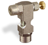 "(Formerly B1630-10X00), Inverted Angle Small Sight Feed Valve, 1/4"" Male NPT Inlet, 1/4"" Female NPT Outlet, Handwheel -- B1628-343B1HW -Image"