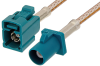 Water Blue FAKRA Plug to FAKRA Jack Cable 48 Inch Length Using RG316 Coax -- PE38756Z-48 -Image