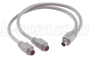 Molded Y Cable, Mini DIN 6 Male / (2) Mini DIN 6 Female, 1.25 ft -- K23-MDY