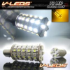 TYPE 2 DUAL COLOR CHANGING WHITE AMBER SWITCHBACK 92 TURN SIGNAL BULBS 1157 2057 | 1 PAIR B/O -- 1157_92_WA2_6K
