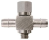 M5 Thread to Barb Cross Fitting -- M5CM Series -Image