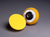 3M Finesse-It 14738 Yellow Disc Pad - 5/8-11 Hook & Loop Thread Attachment -- 051144-14738