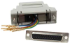 DB25 Female to RJ45 Shielded Modular Adapter Gray -- 31D3-S2-GRY -- View Larger Image