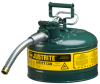 3 Gallon Type II Steel Flammable Liquid Safety Can -- CAN10721-GREEN