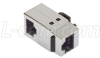 Category 5E Shielded RJ45 (8x8) Right Angle Keystone Coupler -- TDG1026KCS-R5E - Image