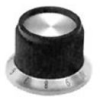 STRAIGHT KNURLED SKIRT KNOB, 3.175MM -- 57F2339