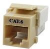 Cat6 RJ45 Modular Keystone Jack, 110 Style, Ivory -- 43-312IV