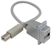USB Surge Protector, Type B / Type A Panel Mount Style with Pigtail Cable - 24