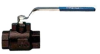 "SERIES 700056 CARBON STEEL A105 BALL VALVE, FULL PORT 1"", 2 WAY WITH STAINLESS STEEL BALL AND STEM -- 700056-1 - Image"