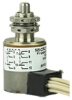 Environmentally sealed limit switch with Leadwire termination, Plunger actuation, Four Pole Double Throw Circuitry, 7 A (Resistive) ampere rating at 28 Vdc, Military Part Number MS27240-2 -- 604EN1-6 -Image