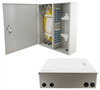 Fiber Enclosure Wall Mount with 48 SC(UPC) Single Mode Couplers & Pigtails -- FE-WM48SC