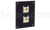 Universal Sub-Panel Black, 2 Ivory Feed-Thru Couplers, RJ12 (6x6) Straight -- USP2MB