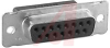 D-Sub Receptacle; Steel; Crimp Snap; Female; 2; Tin -- 70082672 - Image