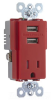 Combination Switch/Receptacle -- TR5261USB-RED -- View Larger Image