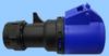 30/32A 6 Hour Connector Blue/black, 2P 3W, IP44 -- 84332204 -Image