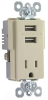 Combination Switch/Receptacle -- TR5261USB-I -- View Larger Image