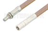 SMB Plug to SMB Jack Bulkhead Cable 24 Inch Length Using RG400 Coax, RoHS -- PE34483LF-24 -- View Larger Image
