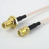 SMA Female Bulkhead to SMA Female Cable RG-316 Coax in 48 Inch and RoHS -- FMC1213315LF-48 -Image