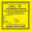 Hazardous Waste Label with ORM-E & RQ -- SGN678