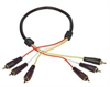 3 Line Audio Video RCA Cable, RCA Male / Male, 3.0 ft -- CCR3MM-3 - Image