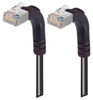 Category 5E Shielded LSZH Right Angle Patch Cable, Right Angle Up/Right Angle Up, Black, 3.0 ft -- TRD815SZRA5BLK-3 -Image