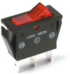 15 AMPS @ 125 V AC with illuminated actuator