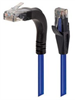 Category 5e Right Angle Patch Cable, Stackable, Blue, 10.0 ft -- TRD815RA15BLU-10 -Image