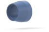 "Flangeless Ferrule Tefzel® (ETFE), 5/16-24 Flat-Bottom, for 3/16"" OD Blue -- P-133 - Image"