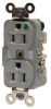 DUPLEX RECEPTACLE HOSPITAL GRADE 15A 125V 5-15R BROWN -- IBI459972