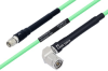Temperature Conditioned SMA Male to TNC Male Right Angle Low Loss Cable 72 Inch Length Using PE-P142LL Coax -- PE3M0131-72 -Image