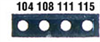 Micro Four Point Temperature Indicator Labels, Tempertaure Points, 320-351 °F -- EW-08068-47