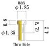Small Size Socket Pin, Thru Hole Socket Pin -- JSP0020-GG - Image