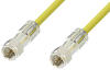 75 Ohm F Male to 75 Ohm F Male Cable 60 Inch Length Using 75 Ohm PE-B159-YW Yellow Coax -- PE38136/YW-60 -Image