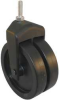 Dual Wheel Swivel Caster,Rating 150 lb. -- 22E822