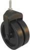 Dual Wheel Swivel Caster,Rating 150 lb. -- 22E822
