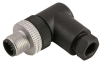Single Key (M12) Micro-Link Field Attachable Connector, 4 pole, Male 90 deg, PG7 entry -- 304FFW7 - Image