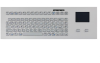 INDUSTRIAL TKG PANEL MOUNT KEYBOARD IN SILVER LOOK WITH SILICONE KEYS AND TOUCHPAD -- TKG-083-TOUCH-MODUL-SILVER