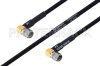 MIL-DTL-17 SMA Male Right Angle to SMA Male Right Angle Cable 200 cm Length Using M17/84-RG223 Coax -- PE3M0053-200CM -Image