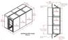3-Unit Tunnel Low Profile Single Door Air Shower -- CAP701LP-ST3-55198