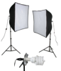 KSB-1000 ECONOMY SOFTBOX LIGHT KIT: 1000 WATT 2-LIGHT SOFTBOX LIGHT KIT -- 408086