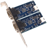 Embedded USB to 2-Port RS-232 DB9 Serial Interface Adapter with Standard Size PC Bracket -- 2208