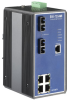 4+2 SC Type Fiber Optic Managed Industrial Ethernet Switch with Wide Temperature -- EKI-7554MI -Image