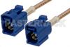 Blue FAKRA Jack to FAKRA Jack Cable 60 Inch Length Using RG316 Coax -- PE38754C-60 -Image