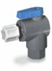 Ball valve, 2-way right angled, EPDM, 3/8